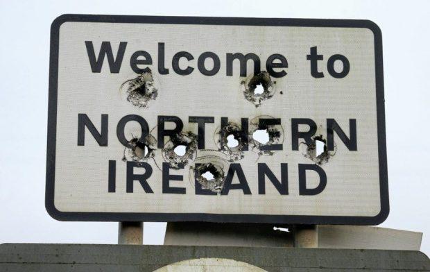 cartel frontera Irlanda del norte
