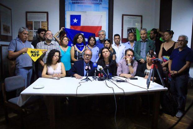 Junto a las organizaciones de Unidad Social, la Comisión Chilena de Derechos Humanos ha trabajado por la promoción y defensa de los derechos humanos en el país. Foto: Agencia UNO.