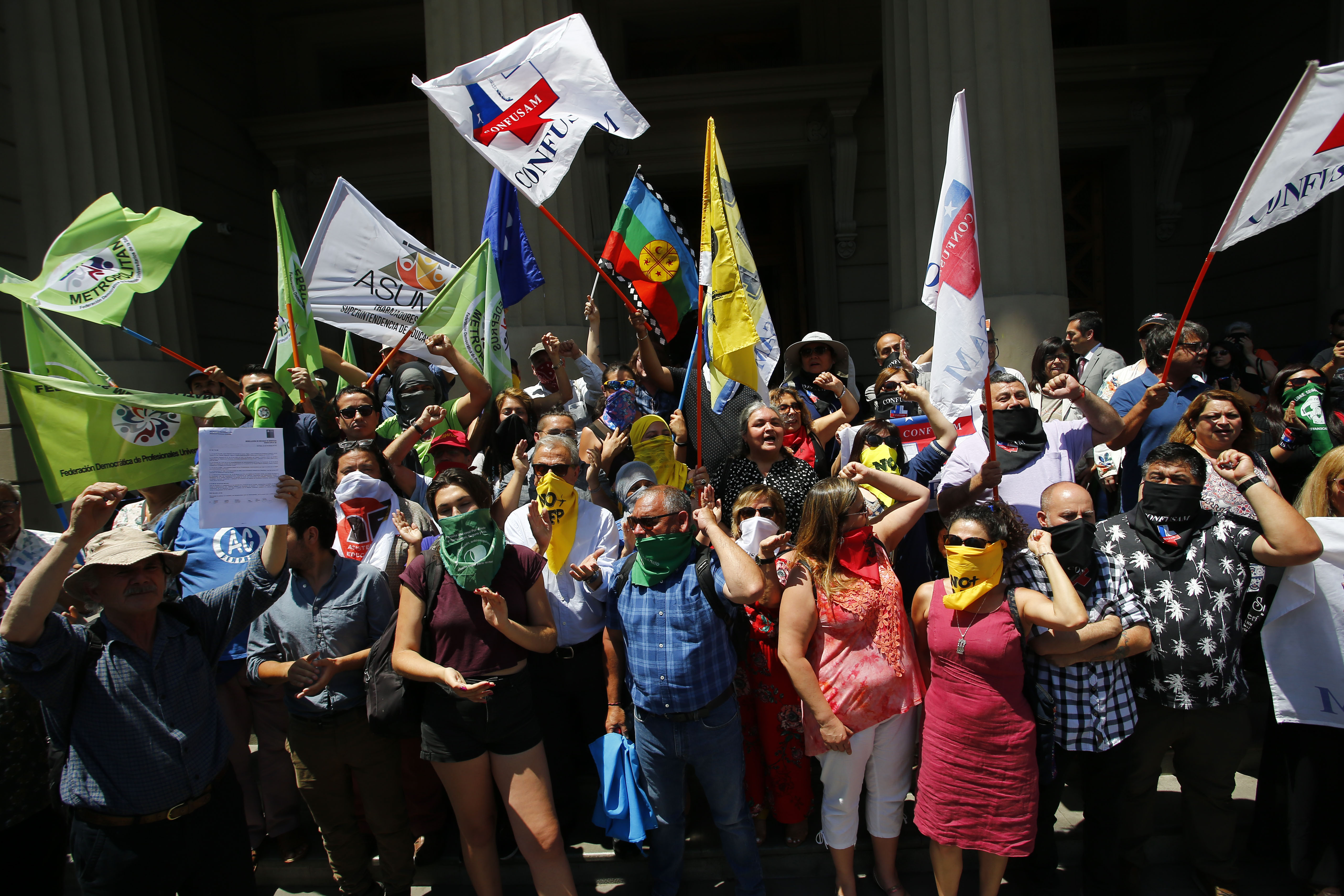 Organizaciones sociales realizan punto de prensa  frente al Congreso Nacional