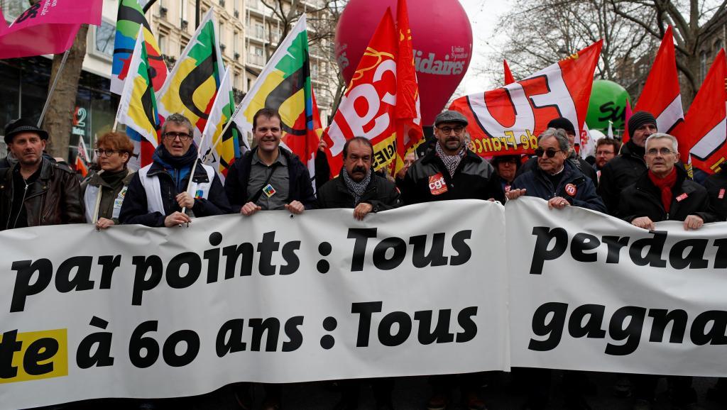 Francia protesta pensiones