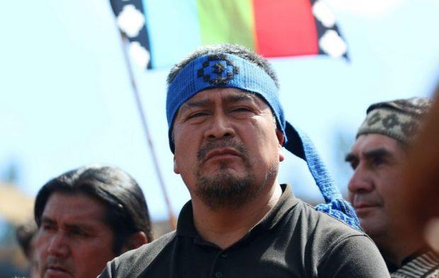 El vocero de la Coordinadora Arauco-Malleco, Héctor Llaitul, descartó cualquier responsabilidad de la CAM en el ataque que sufrió un equipo de TVN entre Tirúa y Cañete el fin de semana pasado. Foto: Archivo.