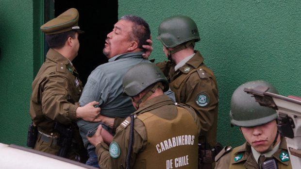 """La Coordinadora Arauco-Malleco y su vocero, Héctor Llaitul, han estado constantemente en la mira de las autoridades regionales. En 2017 fue detenido junto a otros siete comuneros, en el que terminó siendo un montaje denominado """"Operación Huracán"""". Foto: ATON."""