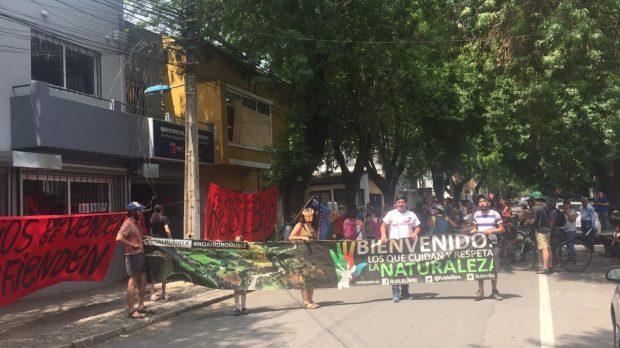 Desde las organizaciones de la Región del Ñuble ligadas a la defensa del medio ambiente anunciaron que mantendrán las movilizaciones para los 14 remates restantes. Foto: Ñuble Libre.