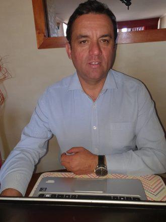 David Ojeda, representante de los agricultores de Quilapilún.