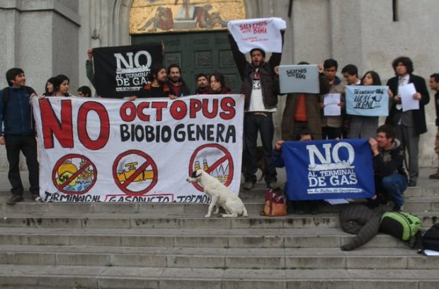 El 3 de enero de 2020 la comunidad Koñintu Lafken Mapu interpuso un recurso de Protección contra el Servicio de Evaluación Ambiental del Bío Bío por la aprobación ilegal del proyecto GNL Penco- Lirquén. Foto: Archivo.