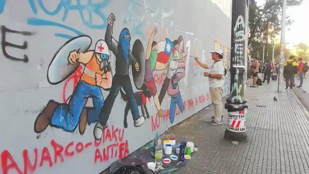 Mural de Mico en el GAM (2020).