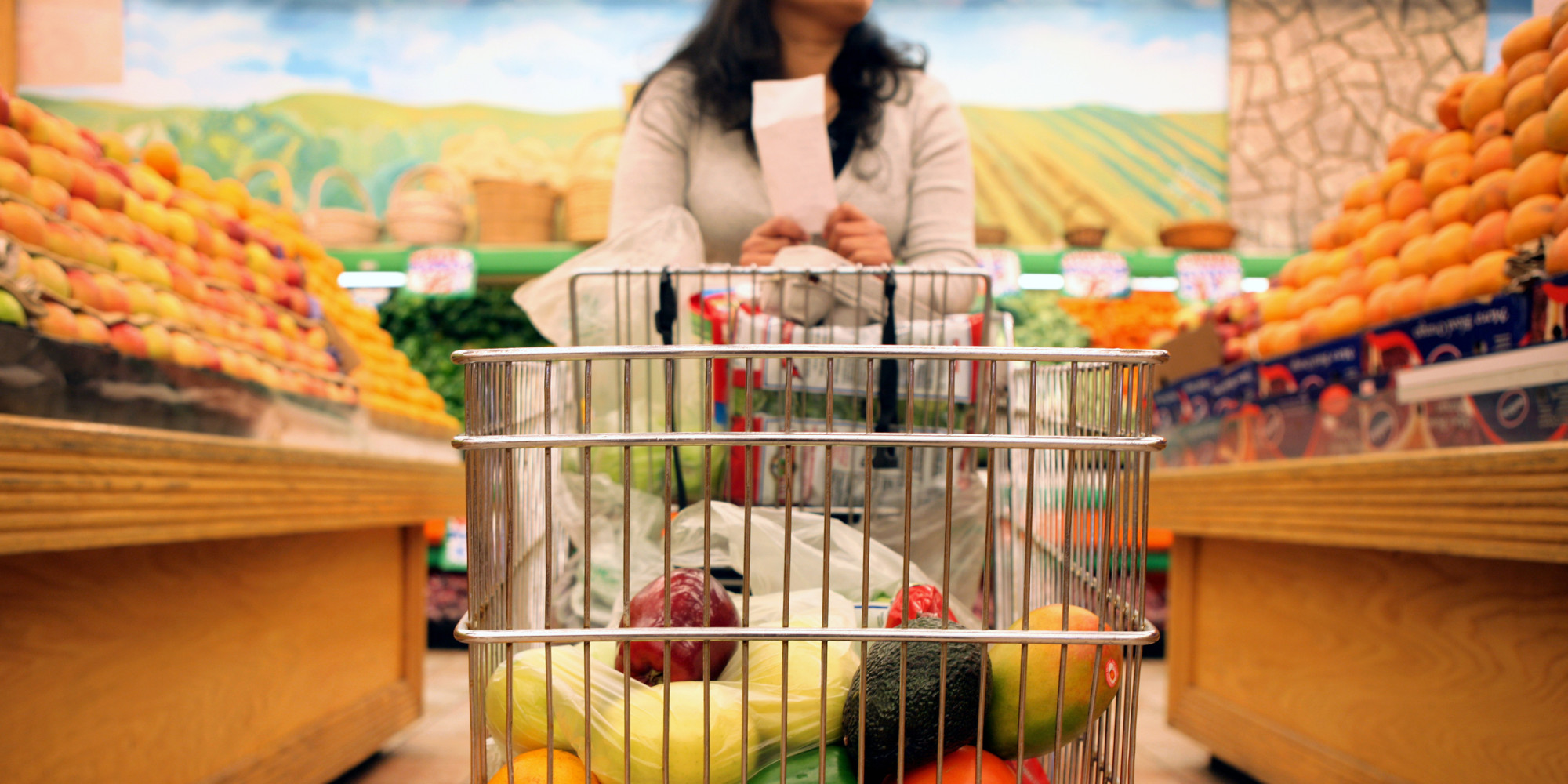 Woman grocery shopping