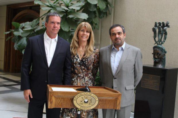 Felipe Harboe, Ximena Rincón y Jaime Quintana