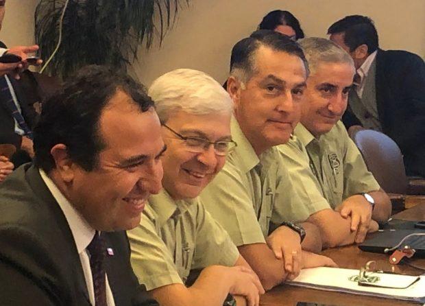 Mario Rozas en la Comisión de Seguridad Ciudadana (Fotografía del twitter de Kevin Felgueras).