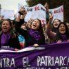 En el marco del Día Internacional de la Mujer, la Coordinadora Feminista 8M convocó para el pasado 8 de marzo una gran huelga general feminista, con intervenciones a lo largo de todo el país. Foto: Agencia UNO.