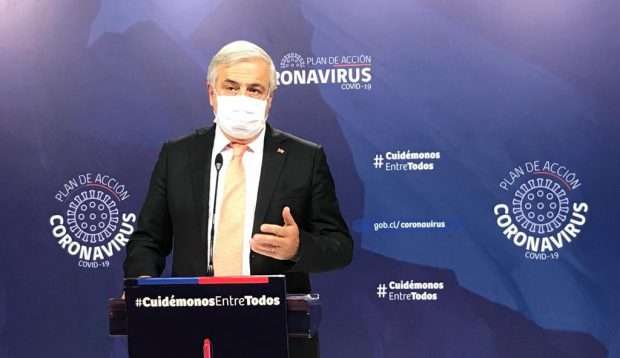 Desde el arribo de la pandemia del coronavirus a nuestro país, el ministro de Salud, Jaime Mañalich, ha sido el portavoz oficial del Gobierno en las medidas contra el COVID-19. Foto: Ministerio de Salud.