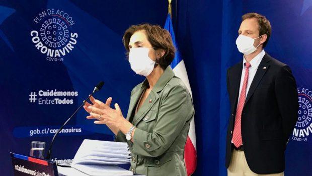 La subsecretaria de Salud Pública, Paula Daza, y el subsecretario de Redes Asistenciales, Arturo Zúñiga. Foto: Ministerio de Salud.