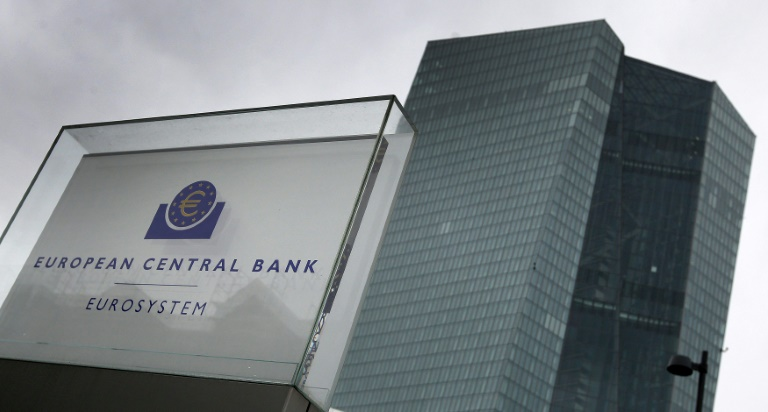 La sede del Banco Central Europeo, en una imagen tomada el 12 de marzo de 2020 en la ciudad alemana de Fráncfort.