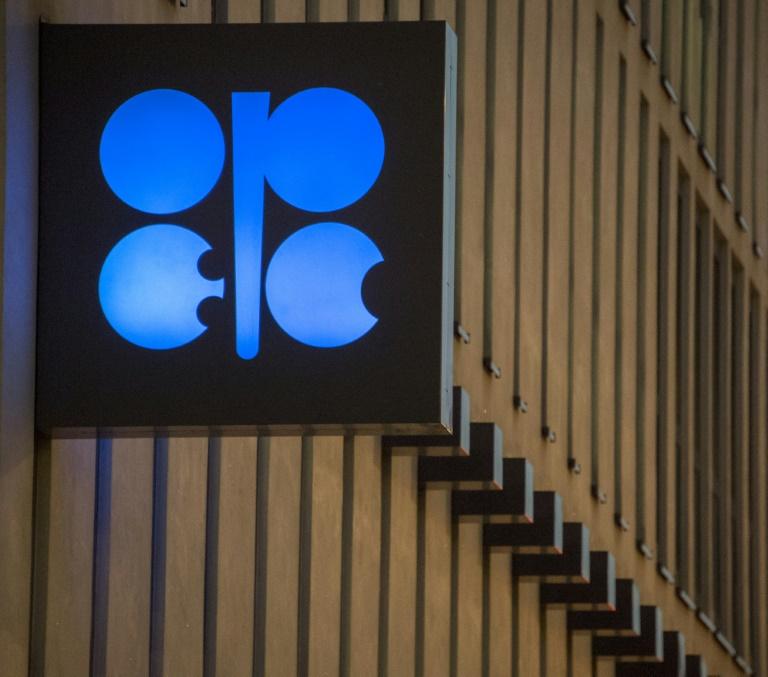 Un logotipo de la OPEP en la sede central de la organización petrolera, el 29 de noviembre de 2016 en Viena.