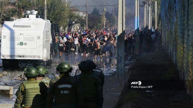 CHILE-HEALTH-VIRUS-PROTEST