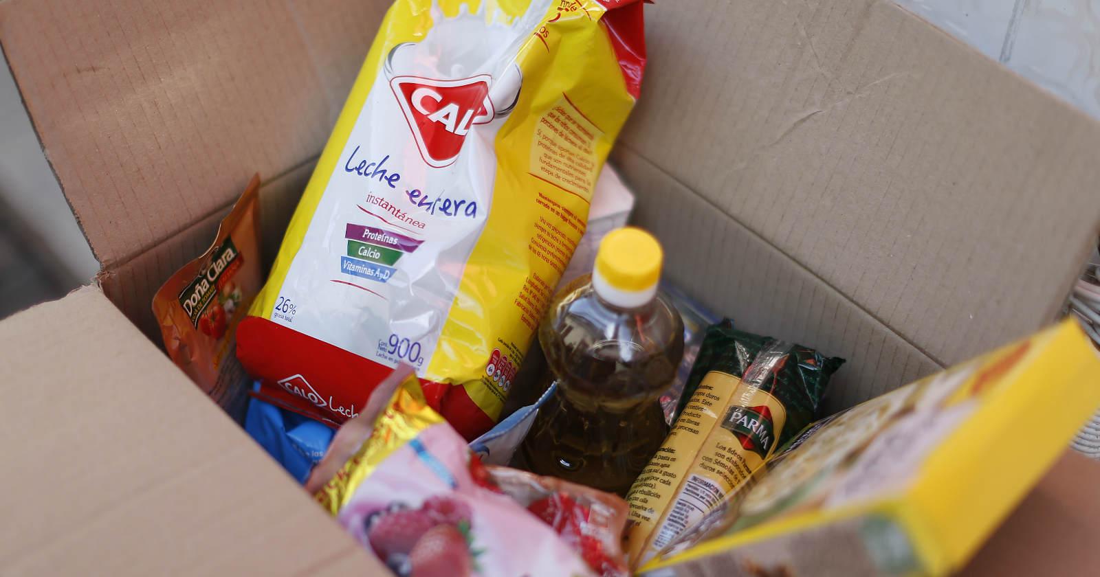 cajas de alimento