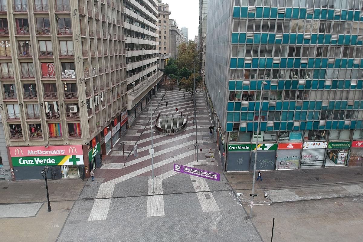 Santiago 27 marzo 2020 Vistas aereas de la zona en cuarentena por la pandemia mundial de coronavirus. Marcelo Hernandez/Aton Chile