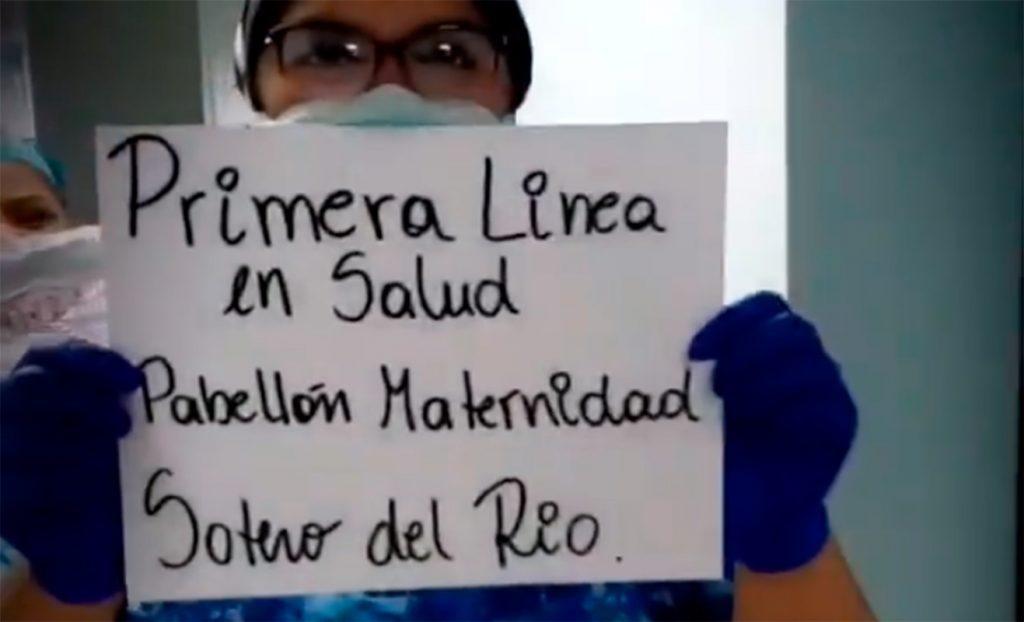 Funcionaria de maternidad del Hospital Sotero del Río.