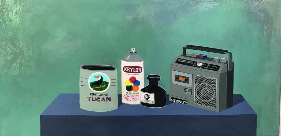 """""""Bodegón con radio"""", de José Benmayor. Imagen: Ch.Aco."""