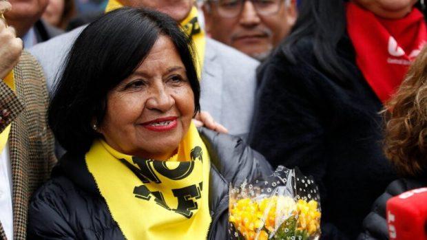 La profesora jubilada María Angélica Ojeda, de Antofagasta, presentó un recurso de protección ante la Corte de Apelaciones de esa ciudad solicitando el retiro de sus fondos de pensiones. Foto: Agencia UNO.