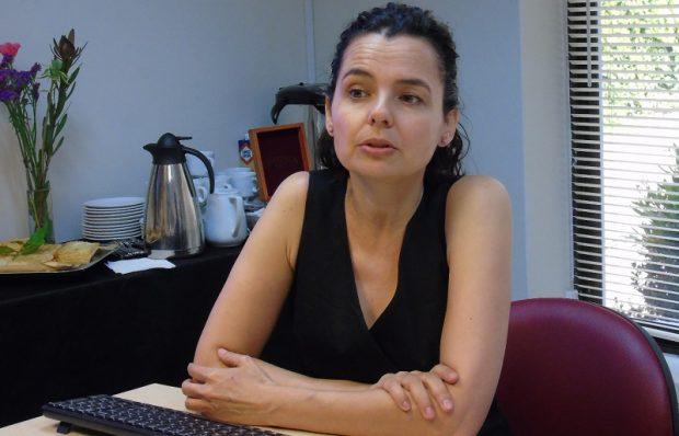 La académica del Departamento de Sociología de la Facultad de Ciencias Sociales de la Universidad de Chile e investigadora del Centro de Estudios de Conflicto y Cohesión Social (COES), Emmanuelle Barozet. Foto: U. Autónoma.