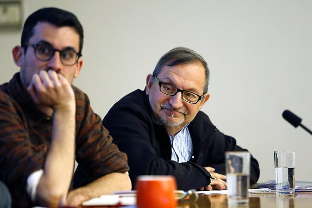 A la derecha, Eduardo Cardoza.
