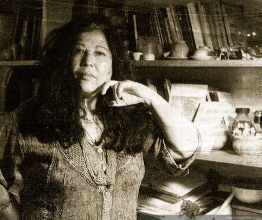 En la imagen, Carmen Berenguer (2000). Fuente: Memoria Chilena.