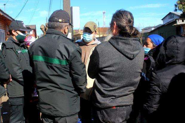 En la foto, Auka Castro, werken (vocero) de los once comuneros mapuche que se encuentran hace 57 días en huelga de hambre en la cárcel de Lebu. Foto: Julio César Parra.