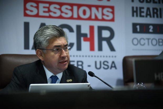 El abogado mexicano Joel Hernández es el relator para Chile y además presidente de la Comisión Interamericana de Derechos Humanos (CIDH). Foto: CIDH.