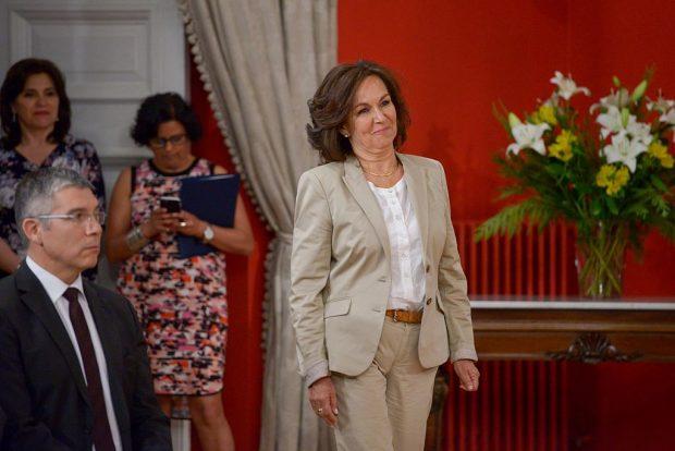 Alejandra Krauss es abogada y militante del Partido Demócrata Cristiano. Fue ministra del Trabajo en el segundo gobierno de Michelle Bachelet y ministra de Planificación en la administración de Ricardo Lagos. Foto: Archivo.