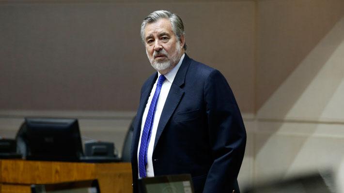 El senador independiente por la Región de Antofagasta, Alejandro Guillier, fue el candidato presidencial de la ex Nueva Mayoría para las elecciones de 2017. Foto: Agencia UNO.