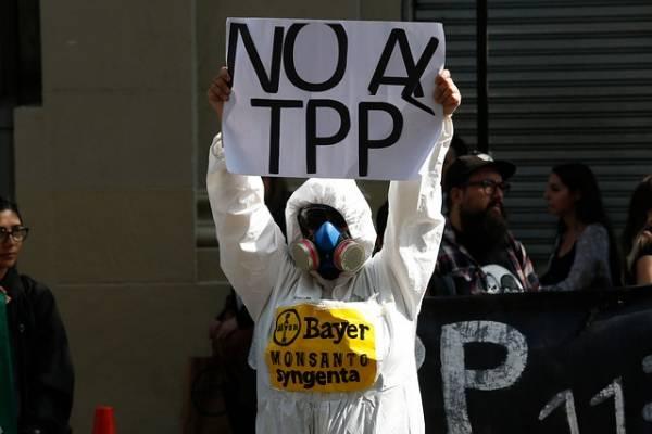 Durante el año 2019 se discutió y se llevó a cabo la mayor parte de la tramitación en el Congreso del TPP-11. Esto, en medio de protestas de decenas de organizaciones que pedían su rechazo. Foto: Agencia UNO.