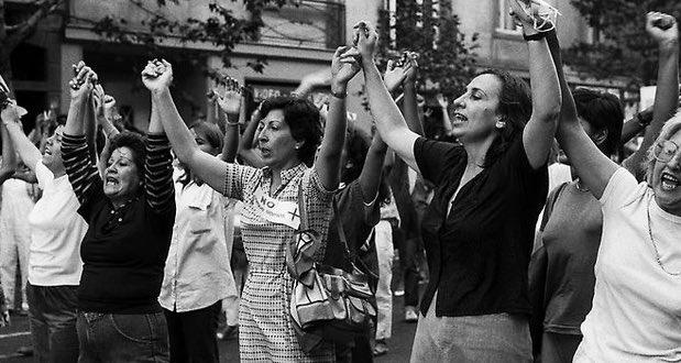 Junto a destacadas mujeres como Carmen Frei, Fanny Pollarolo fue una de las fundadoras de 'Mujeres por la Vida', movimiento que luchó contra la dictadura de Augusto Pinochet. Foto: Memoria Chilena.