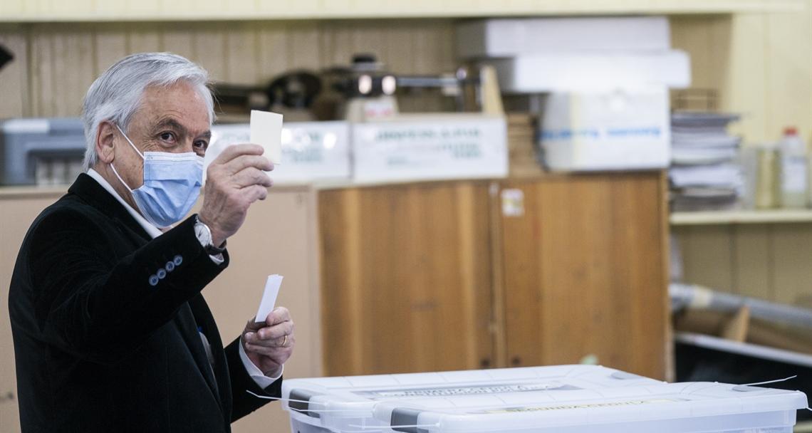 Presidente vota