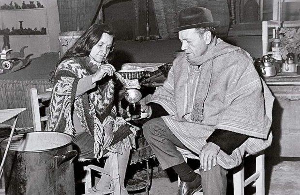 En la imagen, Violeta Parra y Nicanor Parra. Fuente: Fundación Violeta Parra.