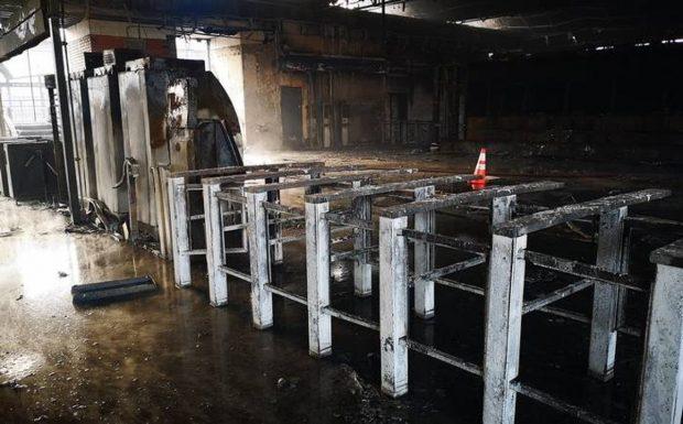 El Séptimo Tribunal de Juicio Oral en lo Penal de Santiago absolvió a los dos acusados de incendiar la estación Pedrero del Metro durante el estallido social. Foto: Agencia UNO.
