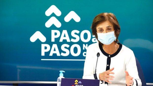 La subsecretaria de Salud Pública, Paula Daza, detalló los avances que se llevarán a cabo en distintas comunas desde este jueves. Foto: Ministerio de Salud.