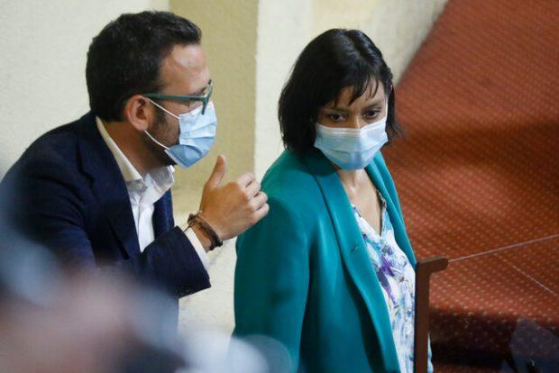 Los diputados Pablo Vidal y Natalia Castillo abandonaron RD por sus diferencias con la actual conducción, liderada por la diputada Catalina Pérez. Foto: Agencia UNO.