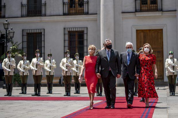 Una serie de imprevistos habían postergado el encuentro bilateral entre los Presidentes de Chile y Argentina, la que se concretó finalmente este martes 26 de enero. Foto: Presidencia.