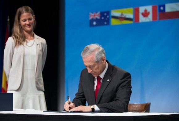 Como ministro de Relaciones Exteriores durante el segundo gobierno de Michelle Bachelet, Heraldo Muñoz fue el encargado de liderar las negociaciones que dieron pie a la firma del TPP-11. Foto: Ministerio de Relaciones Exteriores.