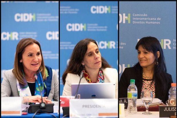 La CIDH tendrá su primera junta directiva en la historia del organismo integrada en su totalidad por mujeres: Antonia Urrejola como presidenta, junto a Julissa Mantilla y Flávia Piovesan, como primera y segunda vicepresidenta respectivamente. Foto: CIDH.