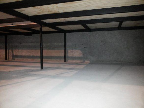 En la imagen, la remodelación del escenario del ex Galpón Víctor Jara .