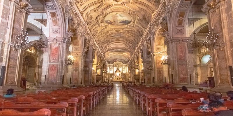 Interior of Santiago Metropolitan Cathedral - Santiago, Chile