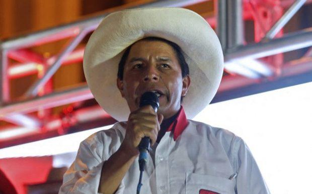 Pedro Castillo, candidato presidencial por el partido Perú Libre.