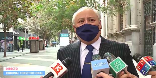 Ministro Iván Aróstica, previo a la sesión del Tribunal Constitucional. FOTO : VLN radio