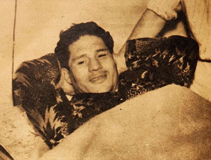 Previo al combate, Godoy lucía confiado y relajado en dar un buen espectáculo en su regreso al país.