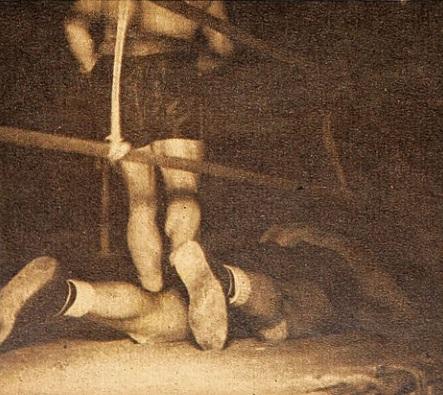 Antes que culminara el primer asalto, el argentino Carnesse había caído tres veces a la lona del Caupolican.