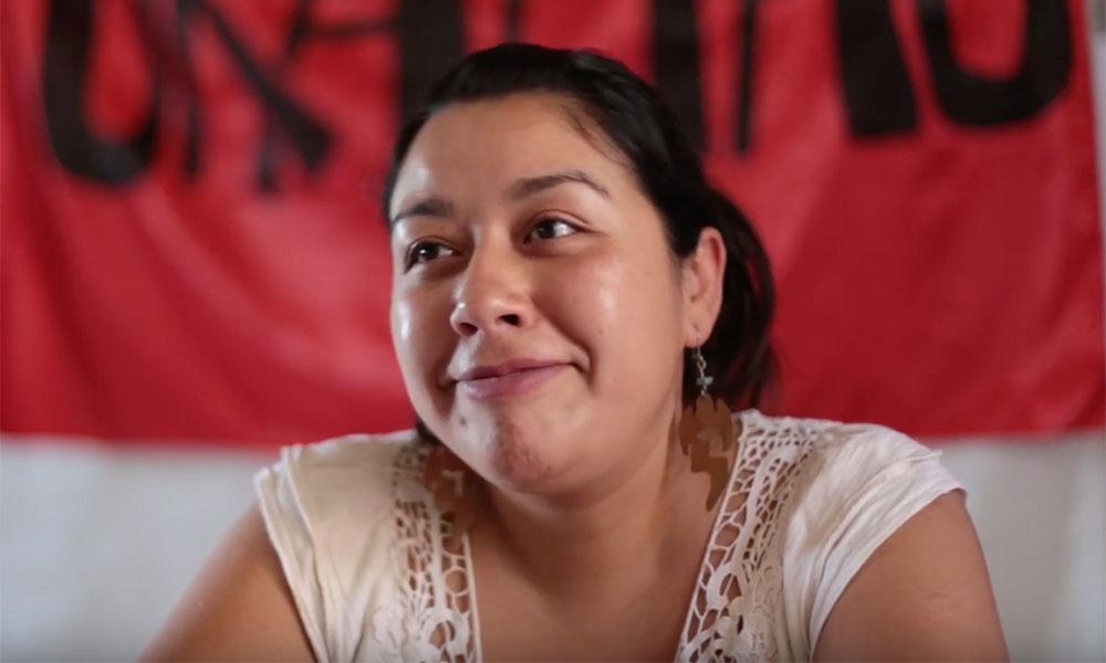 Doris González, trabajadora social y vocera del Movimiento Ukamau.