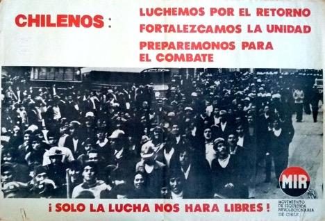 Afiche del Movimiento de Izquierda Revolucionaria (MIR).