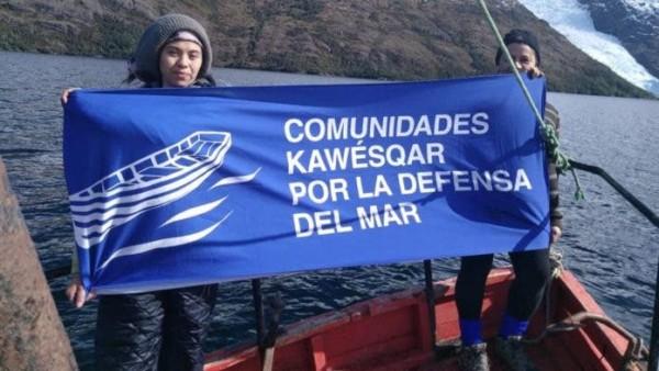 comunidades kawésqar por la Defensa del Mar